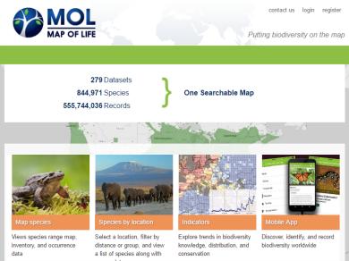 biodiversity hotspot map, global biodiversity
